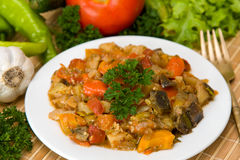Preparing vegetable ragout Royalty Free Stock Images
