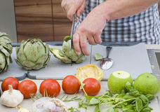 Preparing Vegetables Stock Photo