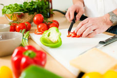 Preparing the vegetables Royalty Free Stock Image
