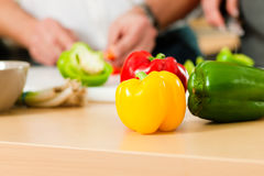 Preparing the vegetables Royalty Free Stock Images