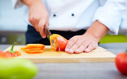 Preparing vegetables Royalty Free Stock Photography