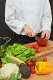 Preparing vegetables for salad Stock Photography
