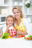 Preparing vegetables on stick Royalty Free Stock Photography