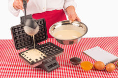 Preparing waffles Royalty Free Stock Photos