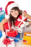 Preparing Xmas gifts Stock Photos