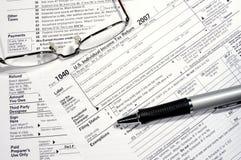 Preparing Your Tax Return Stock Photos