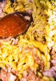 Prepearing karmowy włoch z świeżym mięsem zdjęcie stock