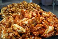 Preperation 3 dell'ala di pollo Immagini Stock