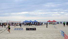Preperations for beach volleyball - Jersey Shore Stock Photos