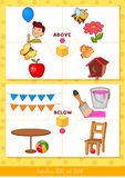 Prepositions above and below