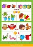 Prepositions between and near
