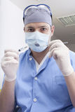 Prepparing anaesthesia Stock Photo