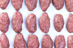 Prepped Ready to Cook Turkish Meat Balls Royalty Free Stock Photography