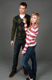 Preppy male and female fashion models Stock Images