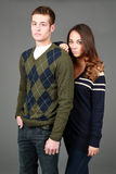 Preppy male and female fashion models Royalty Free Stock Photography