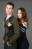 Preppy male and female fashion models Royalty Free Stock Images