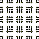 Preppy Seamless Checkered Repeating Pattern. Preppy Black and Green Radiant Seamless Repeating Checkered pattern Royalty Free Stock Photography