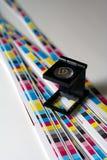 Preprense el menagement del color - impresión de color de CMYK Fotos de archivo libres de regalías