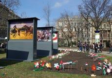 Prepárese para la festividad nacional: Revolución húngara Fotografía de archivo libre de regalías