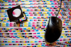 Prepress kleurenbeheer en af:drukken productie Royalty-vrije Stock Foto