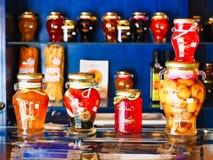Prerogative localmente prodotte della frutta, Galaxidi, Grecia fotografia stock