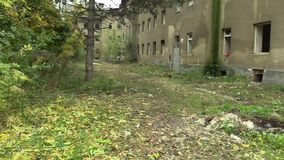 PREROV, CZECH REPUBLIC, OCTOBER 29, 2017: Ghetto poor in Prerov, Skodova street with abandoned former Gypsy ghetto. Ghetto poor in Prerov, Skodova street with stock video footage