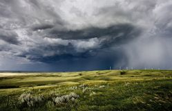 Preryjna burza Saskatchewan obrazy stock