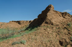Preryjna góra w tle zdjęcie stock