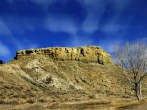 Preryjny Butte w Jeziornym osada stanu parku Kolorado fotografia royalty free