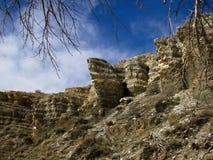 Preryjny Butte w Jeziornym osada stanu parku Kolorado obrazy royalty free