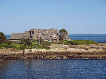 pres Bush-de zomerhuis Kennebunkport Maine Stock Foto