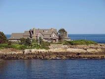 pres Casa de verão Kennebunkport de Bush Maine Foto de Stock