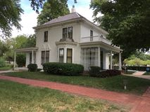 Pres. D. Eisenhower`s Boyhood Home. Eisenhower Home 1898-1946 - This is the house in Abilene, KS where President Dwight Eisenhower grew up. It was a great stock photo