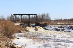 presa Barga River Zelenogorsk, territorio de Krasnoyarsk Imagen de archivo