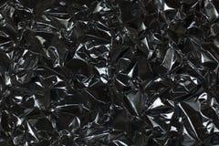Presa completa della struttura di uno strato del di alluminio d'argento sgualcito Fotografie Stock