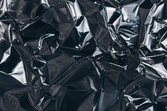 Presa completa della struttura di uno strato del di alluminio d'argento sgualcito Immagine Stock