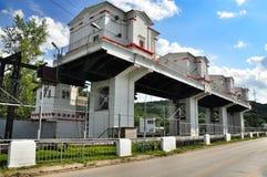 Presa de central hidroeléctrica de Maikop HPS Foto de archivo