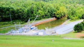 Presa de Chatuge del control de inundación   Imagenes de archivo