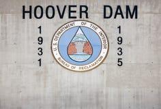 Presa de Hoover Fotografía de archivo