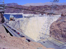 Presa de Hoover en el río de Colorado Fotos de archivo libres de regalías