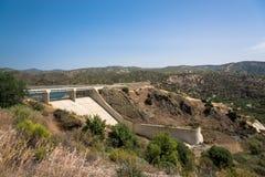 Presa de Kalavasos, Chipre Fotografía de archivo libre de regalías