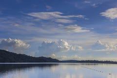 Presa de Khun Dan Prakan Chon Imagen de archivo libre de regalías