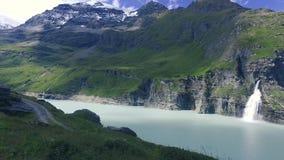 Presa de Mauvoisin, Bagnes, Valais, Suiza almacen de metraje de vídeo