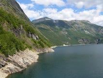 Presa de Noruega Zakariasdammen Imágenes de archivo libres de regalías