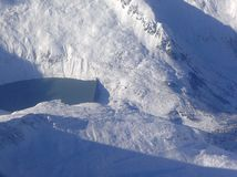 Presa del agua en las montan@as Mountainpeaks Fotografía de archivo libre de regalías