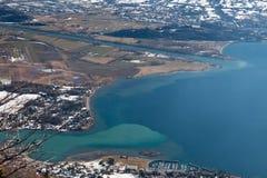 Presa del fiume, lago Como Immagini Stock Libere da Diritti