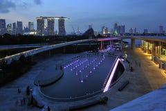 Presa del puerto deportivo de Singapur Fotos de archivo libres de regalías