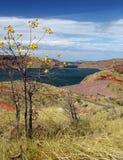 Presa del río de Ord, lago Argyle Fotos de archivo libres de regalías