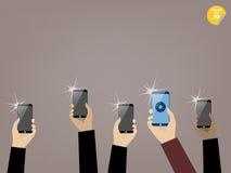 Presa dell'immagine con lo smartphone Fotografia Stock Libera da Diritti