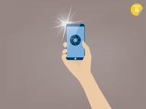 Presa dell'immagine con lo smartphone Immagini Stock Libere da Diritti